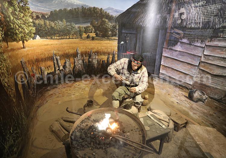 Scène artisanale mapuche, Musée Colchagua