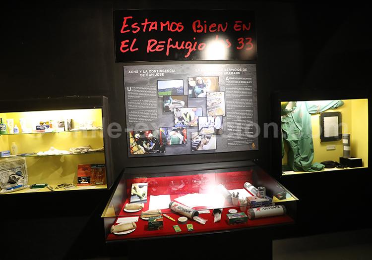 Zoom sur les 33 miniers, Musée Colchagua