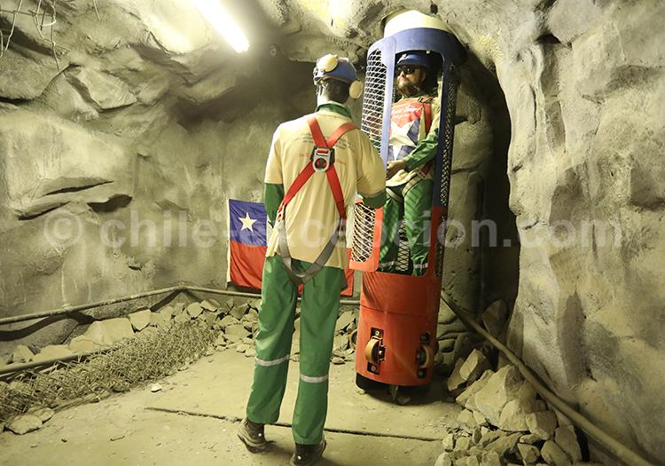 Capsule de sauvetage des miniers, Musée Colchagua