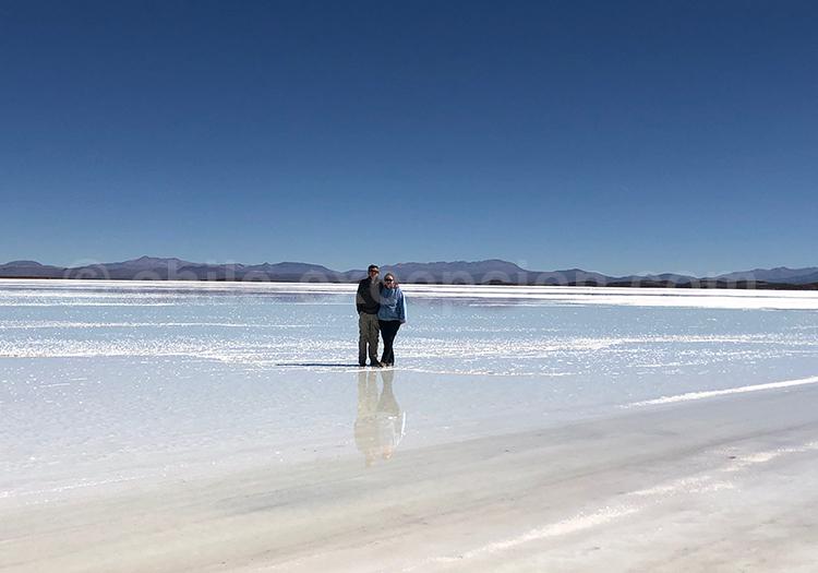 Salar de Uyuni, Bolivie avec l