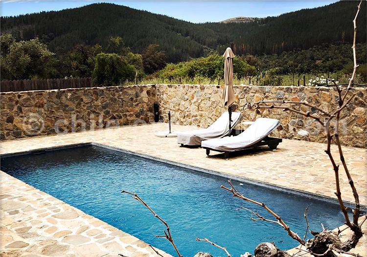Piscine de l'hôtel Casa Bouchon, vallée del Maulle