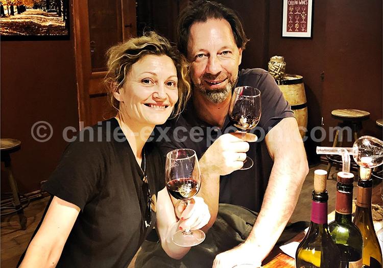 Route des vins au Chili Jean-Michel et Marie-Laure avec l