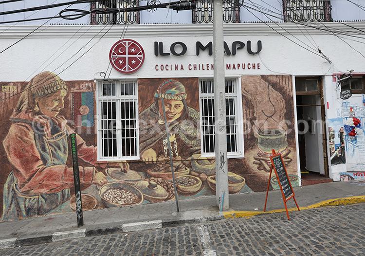 Restaurant mapuche, Valparaiso, région centre, Chili