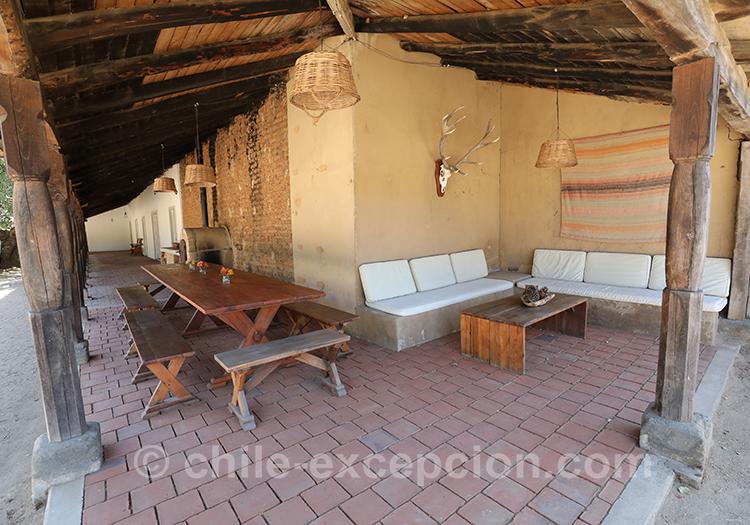 A l'ombre de l'hôtel Casa Bouchon, Estancia Mingre, Chili