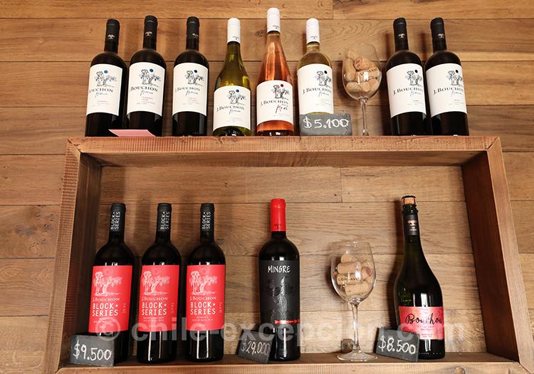 Les différents vins de la Casa Bouchon, Chili
