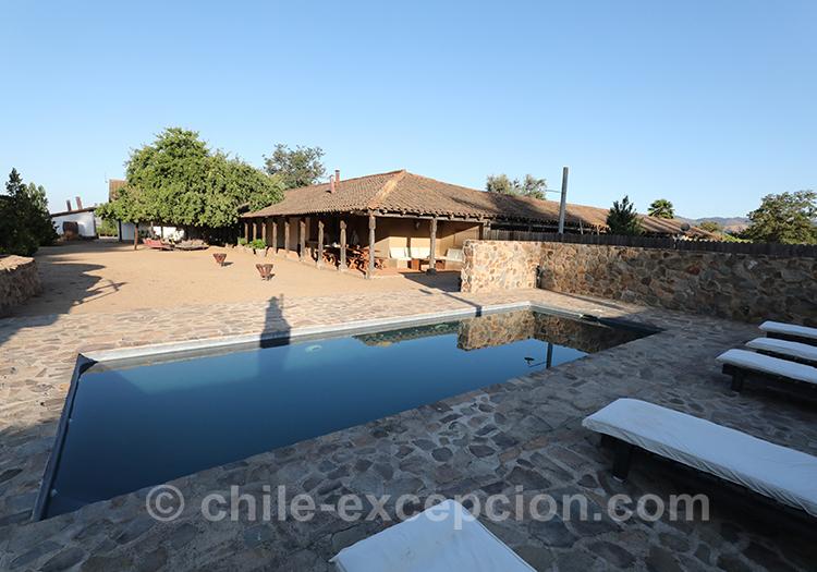 Casa Bouchon, hôtel boutique du centre du Chili et sa piscine