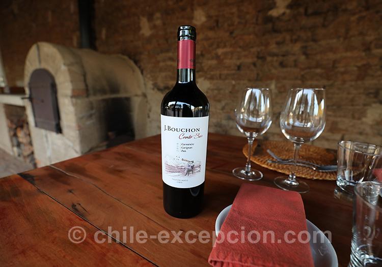 Dégustation de vin de la bodega Casa Bouchon à l'hôtel boutique Casa Bouchon, Chili