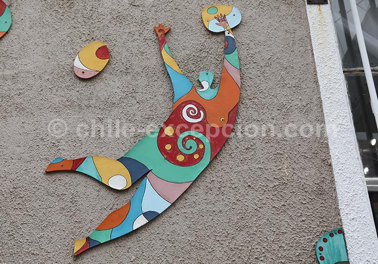 Ville artistique, Valparaiso, région centre, Chili