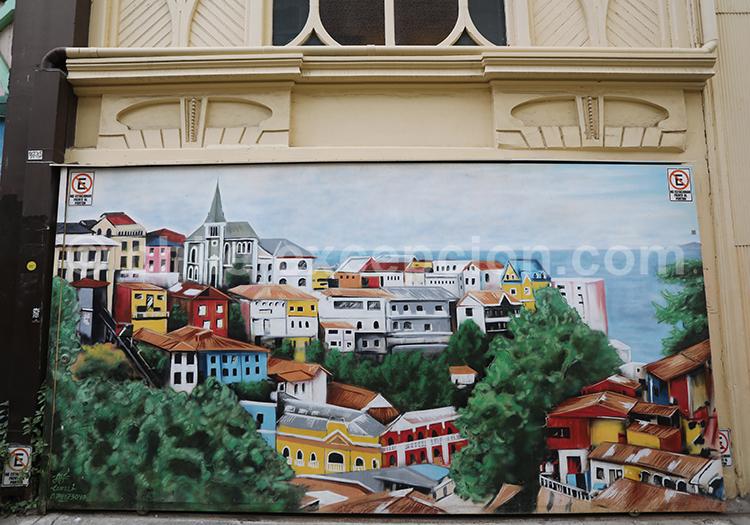 Les maisons colorées de Valparaiso
