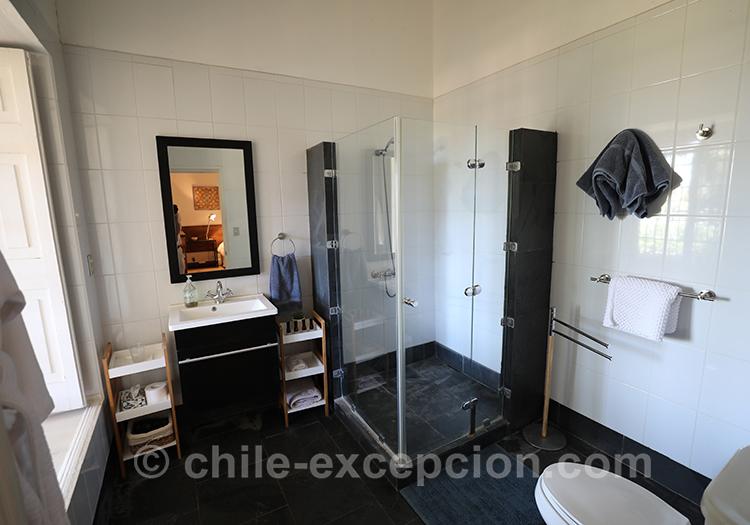 Salle de bain de l'hôtel Casa Bouchon, centre Chili