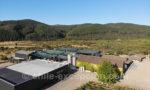 Vue aérienne sur Viña Casa Bouchon, Chili