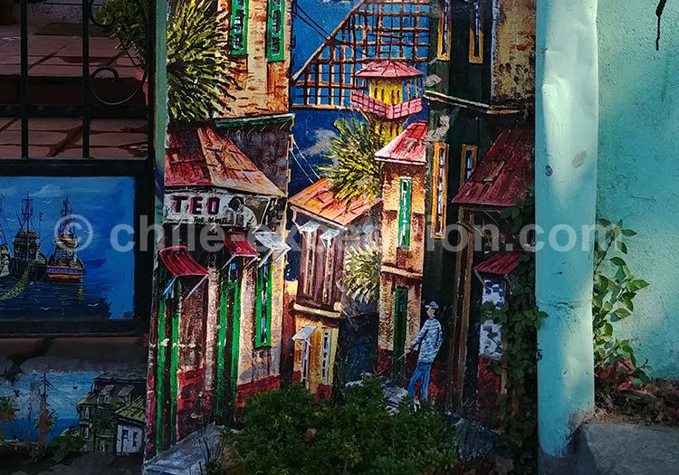 Valparaiso sur les murs de Valparaiso