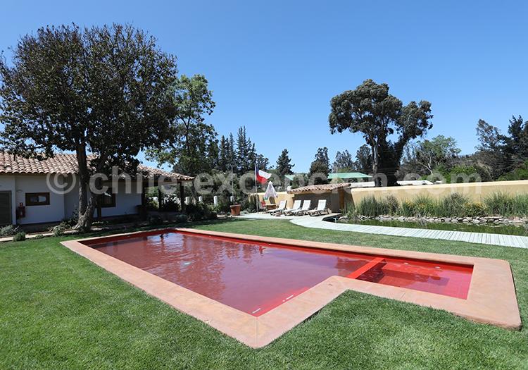 La piscine de l'hôtel BCW Casablanca, région Valparaiso, Chili