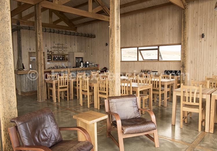 Restaurant de l'hôtel boutique Simple Patagonia, Puerto Natales, Chili avec l'agence de voyage Chile Excepción