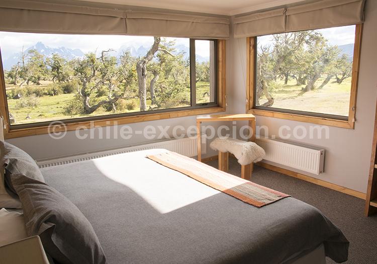 Hôtel Pampa lodge, Torres del Paine, Chili, découvrir les chambres avec l'agence de voyage Chile Excepción