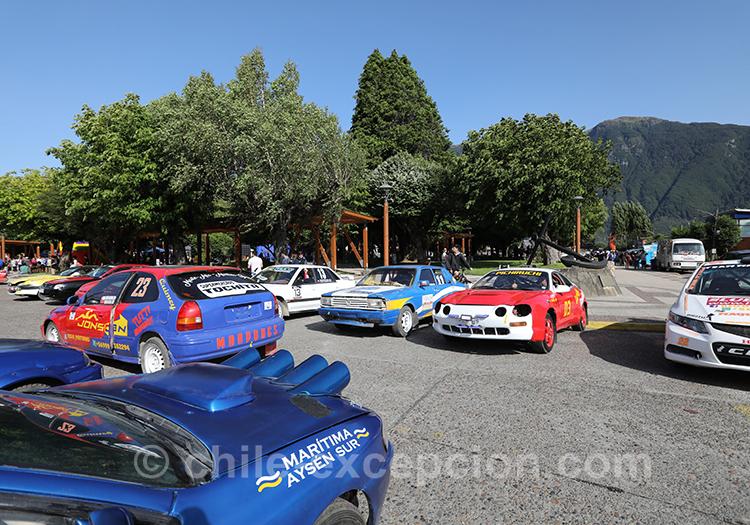 Voitures de la ville de Puerto Aysén, Patagonie australe, Chili