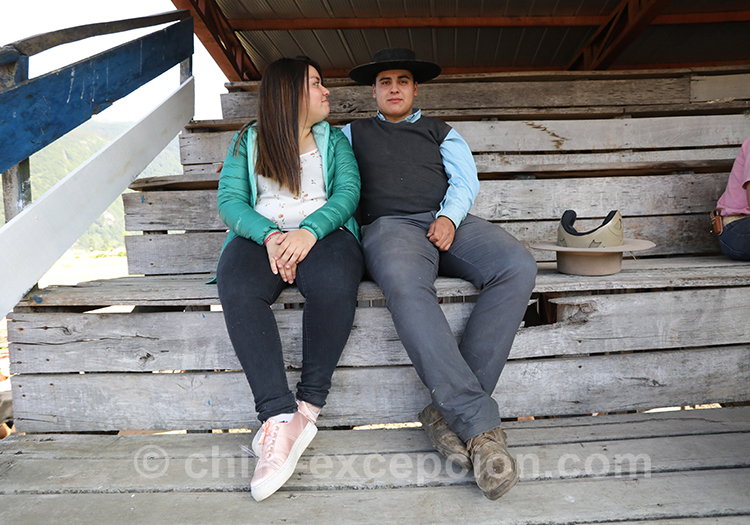 Couple chilien, huasos