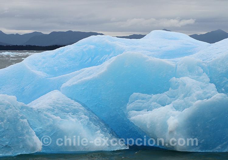 Ice bergs sur le lac San Rafael, Patagonie australe, Chili