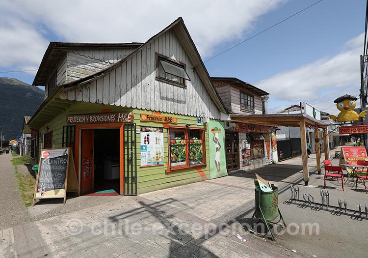 Petite boutique de Puerto Chacabuco, Patagonie australe, Chili