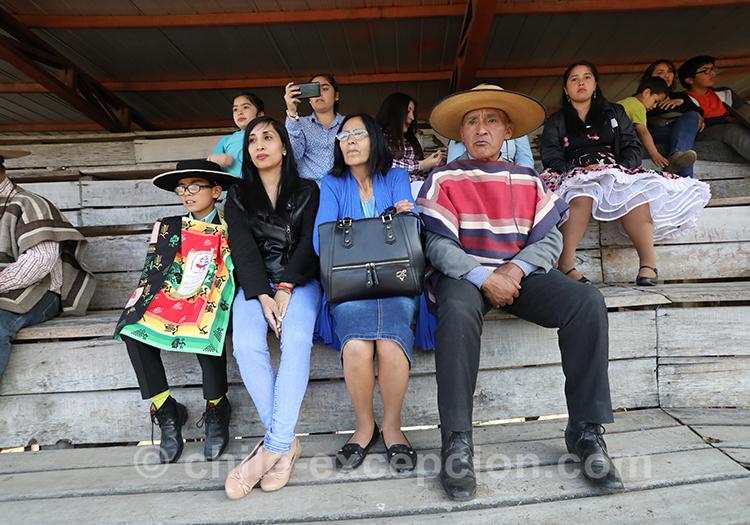 Famille huaso au Chili