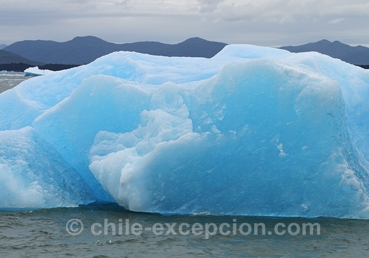 Les icebergs du parc de la laguna San Rafael