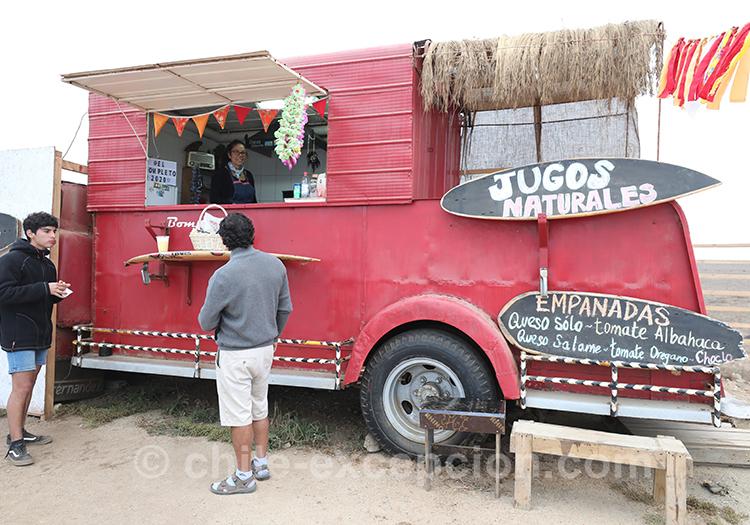 Vente de jus à Pichilemu, Chili
