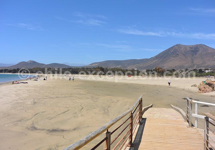 Plage de la côte Pacifique du Chili, à Pichidangui
