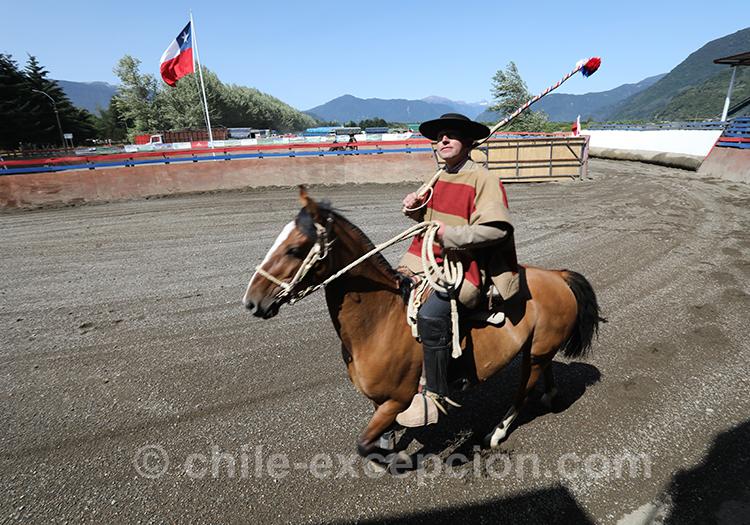L'arrivée du huaso chilien, tradition chilienne