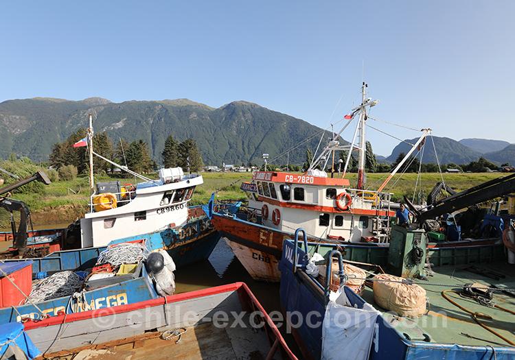 Que voir à Puerto Aysén, le port, Patagonie australe, Chili