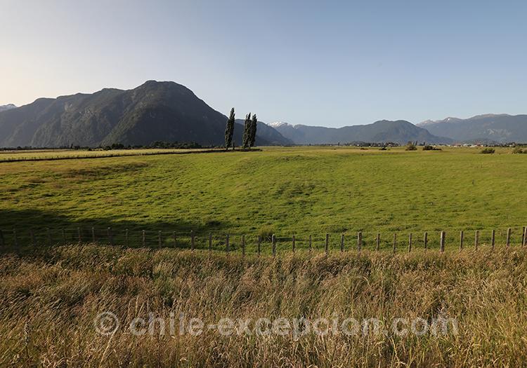Paysages autour de Puerto Chacabuco, Patagonie australe, Chili