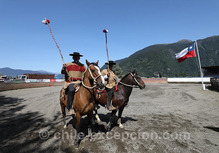 Démonstration des huasos au Chili