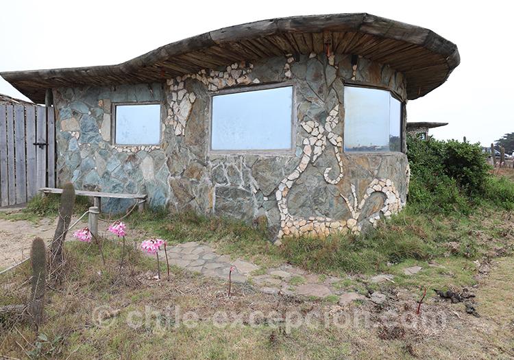 Maison sur la côté, Punta de Lobos, Chili