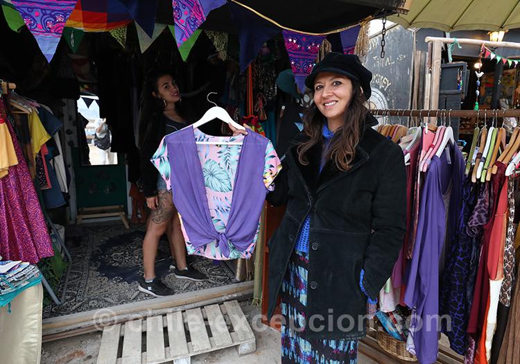 Achat de vêtements à Pichilemu, Chili