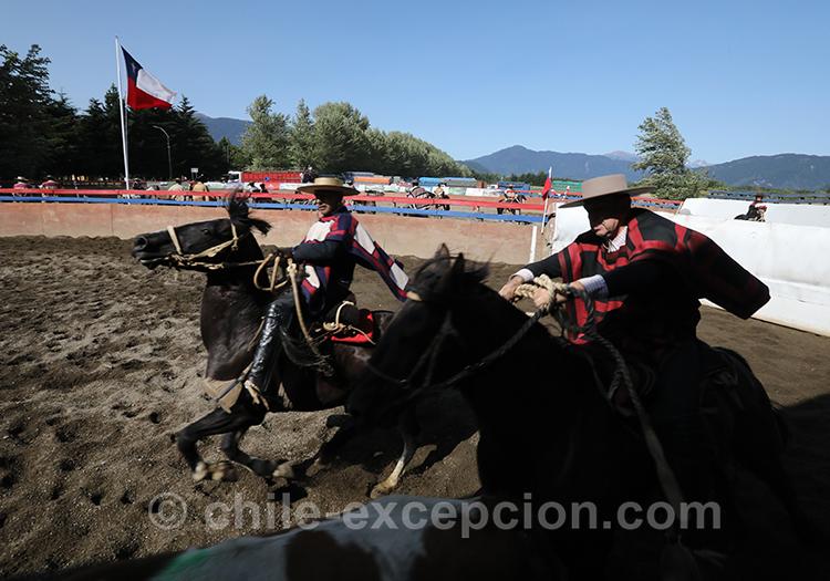 Partir au galop, huasos, Chili