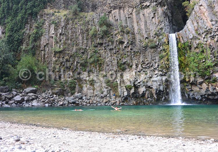 Cascades du parc Radal Siete Tazas, centre du Chili