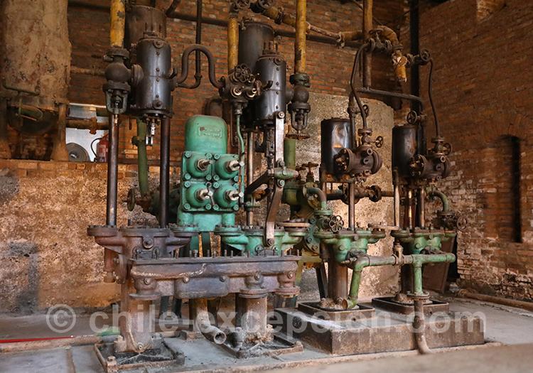 Salle de machines à Bories, musée historique frigorifico