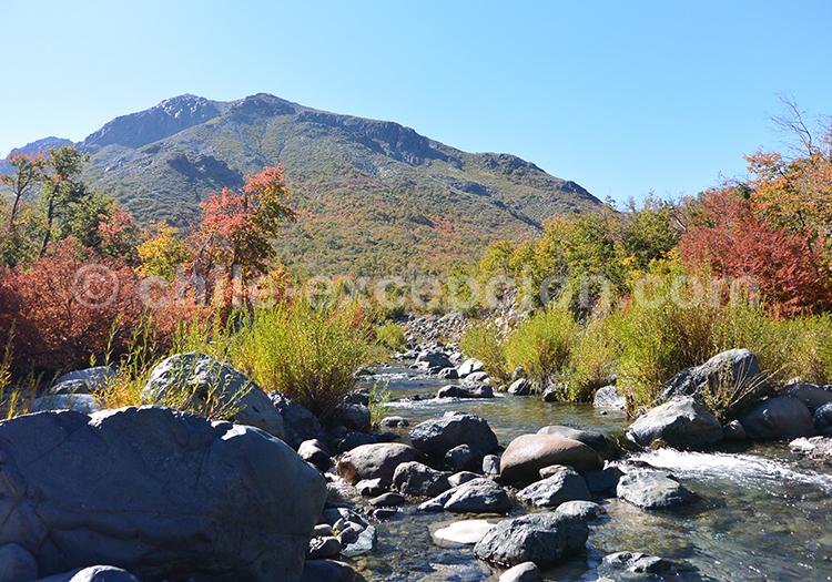 Superbe parcs de la région centre du Chili, parc Radal Siete Tazas et parc Ingles