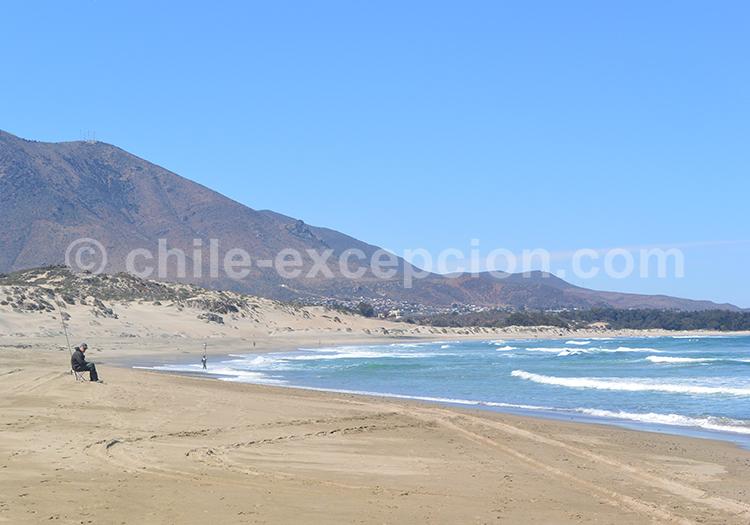 Côte Pacifique du Chili et la station balnéaire Pichidangui