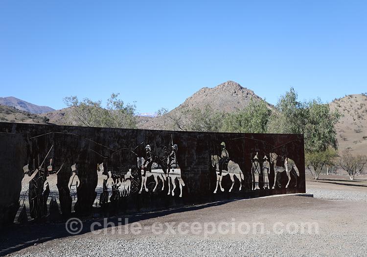 Mirador Interprétatif de la bataille de Chacabuco, Chili avec l