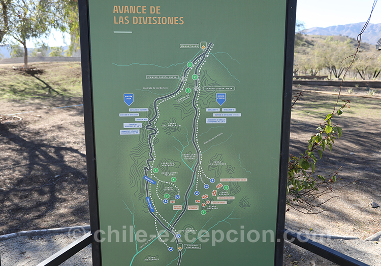Carte de la bataille de Chacabuco, Chili