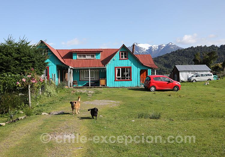 Maison de pêcheur à Puerto Chacabuco, Chili