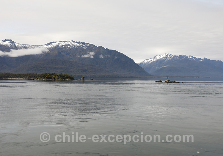 Sortie du canal San Rafael, Chili