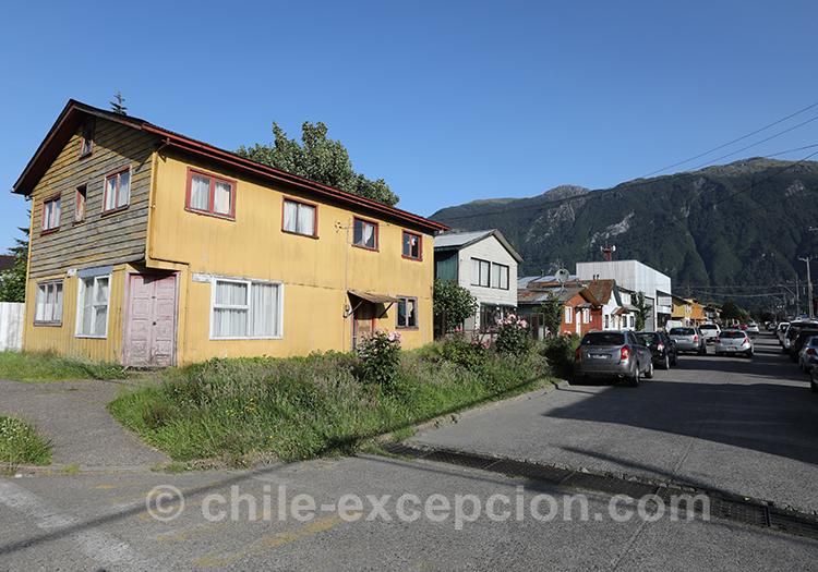 Maisons du village de Puerto Aysén, Chili