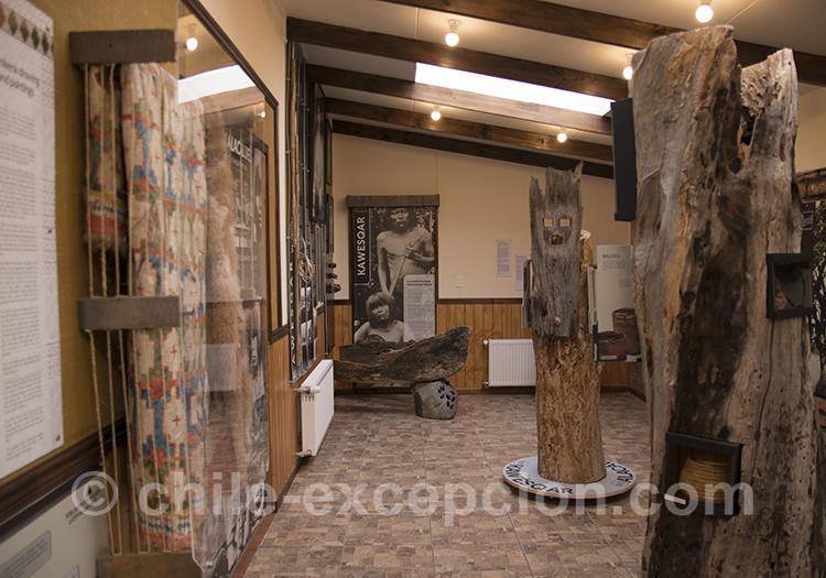Statues de bois, musée historique municipal, Puerto Natales