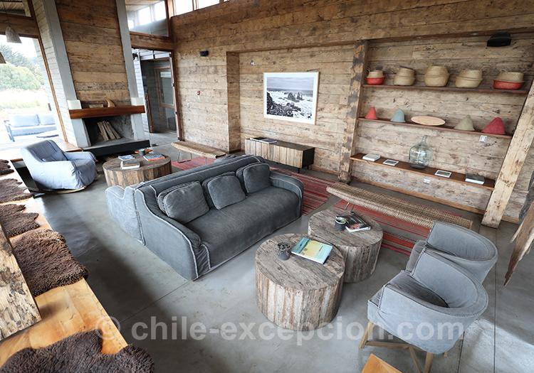 Salon commun à l'Hotel Alaia, Pichilemu, Chili avec l'agence de voyage Chile Excepción