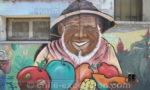 Street art du quartier Yungay à Santiago, Chili
