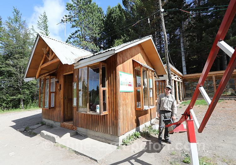 Entrée du parc national Coyhaique, Chili avec l
