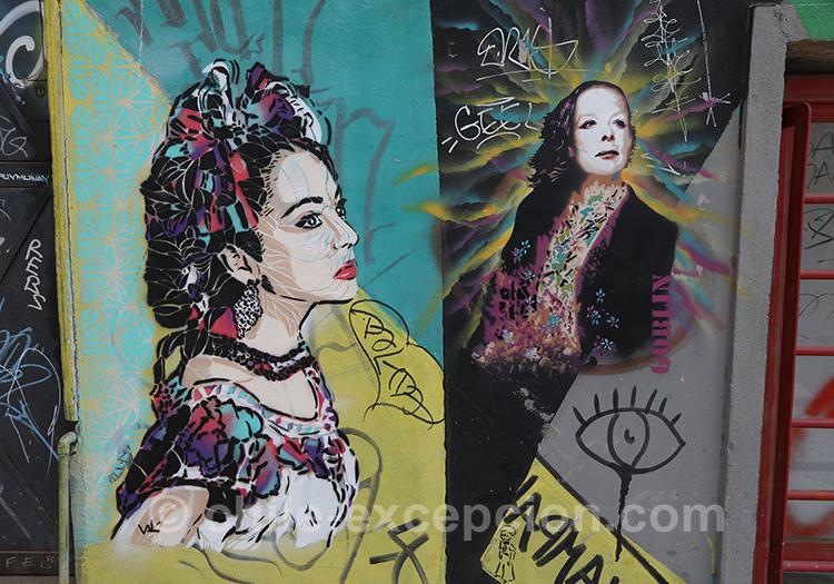Peintures de rue à Valparaiso, Chili