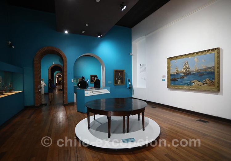 Salle d'exposition au musée maritime national de Valparaiso, Chili
