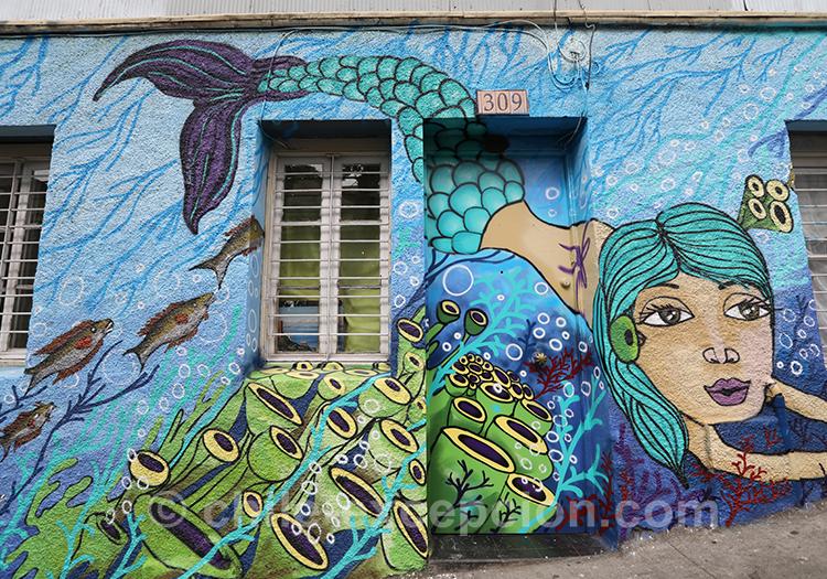 Où voir du street art dans les rues de Valparaiso
